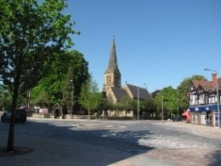 Picture of Fountain Place and St. George's Church, Poynton